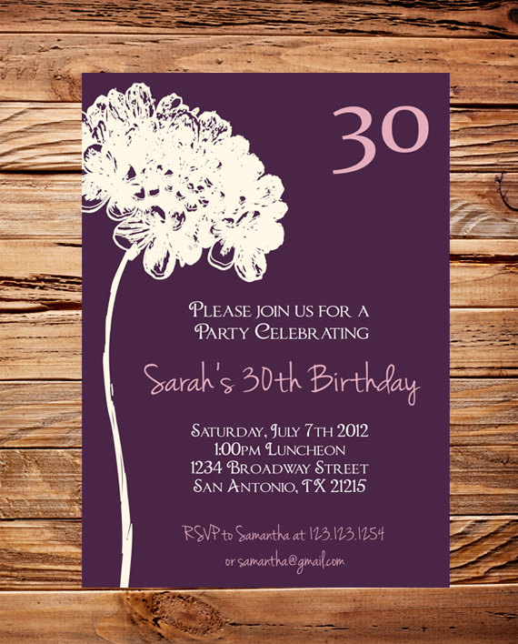 30th birthday invitation designs ; 30th-birthday-invitation-wording-with-Birthday-Invitation-designs-for-your-invitation-design-11