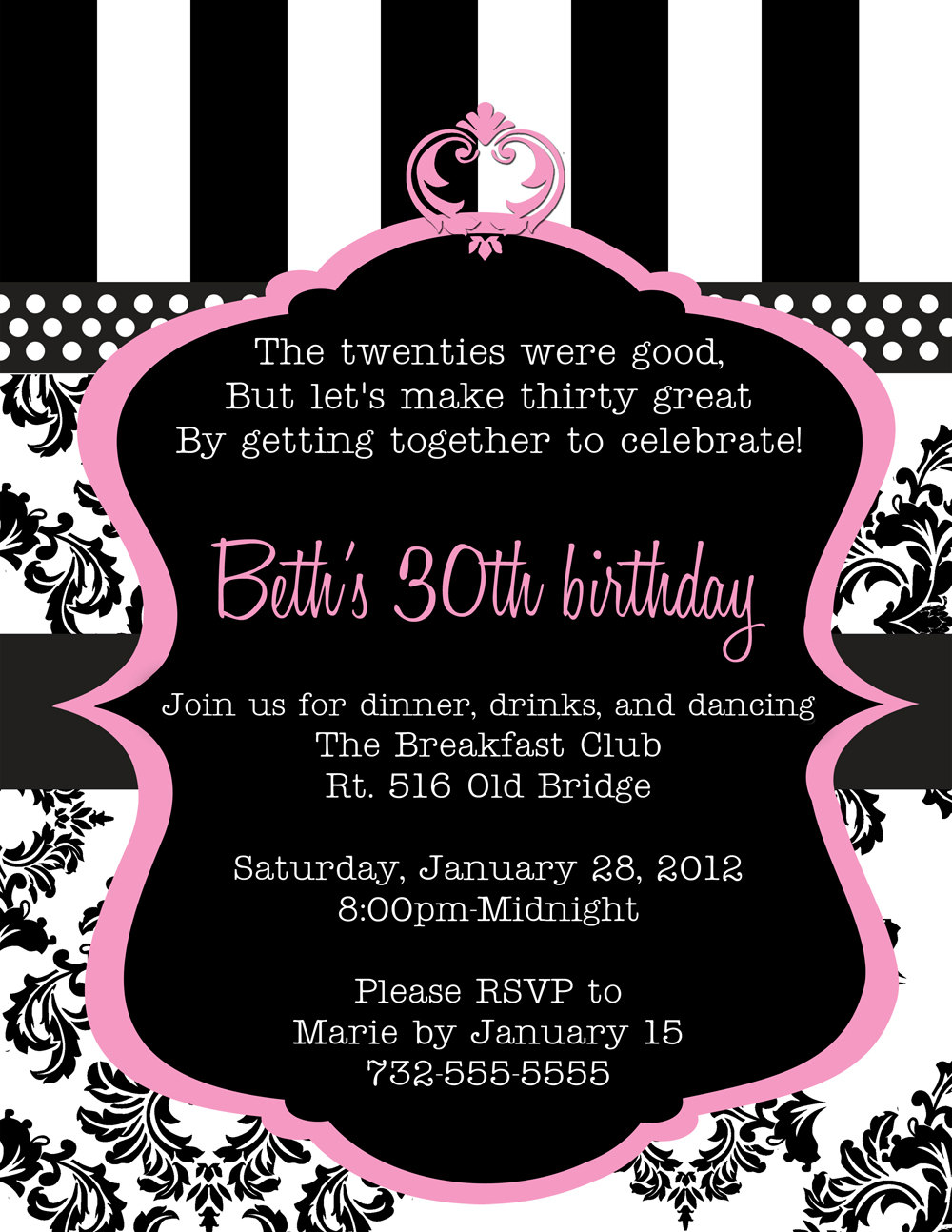 30th birthday invitation designs ; 30th-birthday-invitations-to-make