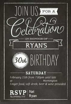 30th birthday invitation designs ; 30th-birthday-invites-and-graceful-arrangement-of-position-invitation-design-16
