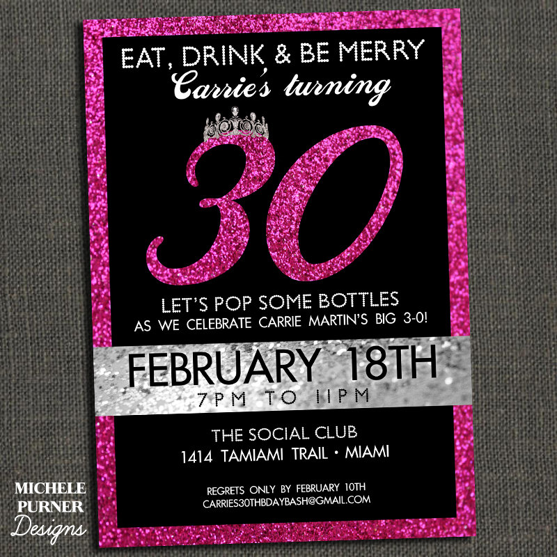 30th birthday invitation designs ; Amazing-30Th-Birthday-Party-Invitations-Which-Can-Be-Used-As-Printable-Birthday-Invitations