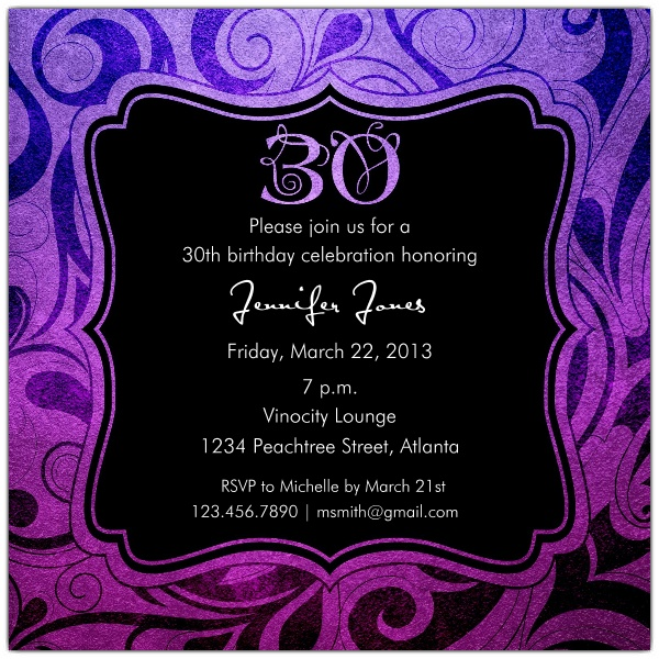 30th birthday invitation designs ; Brilliant-Emblem-30th-Birthday-Party-Invitations-p-615-55-241-z