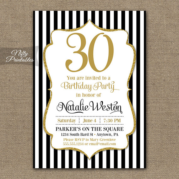 30th birthday invitations with photo ; 30th-birthday-invitations-30th-birthday-invitations-black-gold-glitter-20th-30th