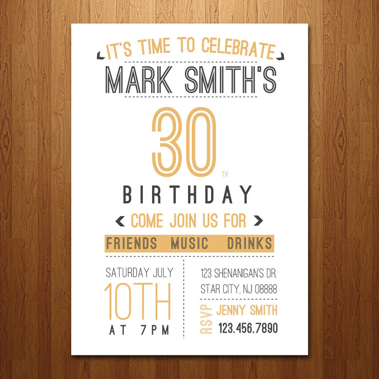 30th birthday invitations with photo ; 30th-birthday-party-invitations-combined-with-your-creativity-will-make-this-looks-awesome-1