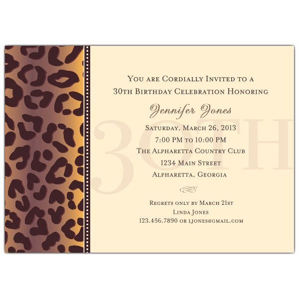 30th birthday invitations with photo ; 615-75-038-z