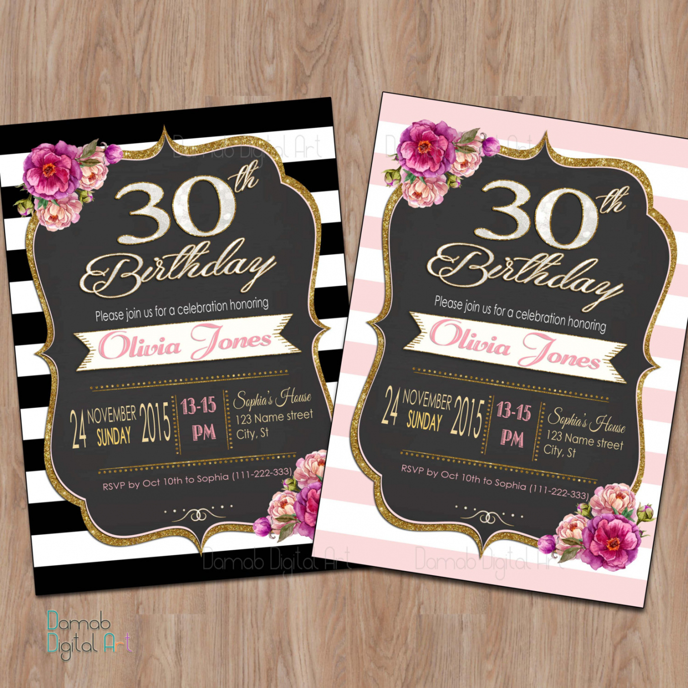 30th birthday invitations with photo ; new-30th-birthday-party-invitations-for-her-4k