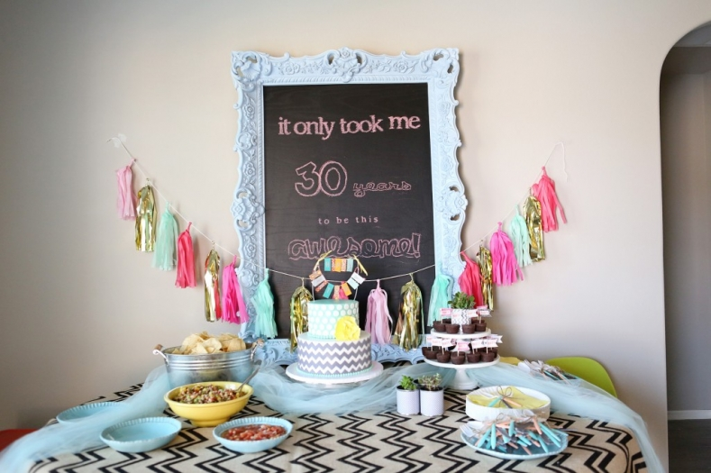 30th birthday party themes ; 30-Years-of-Awesome