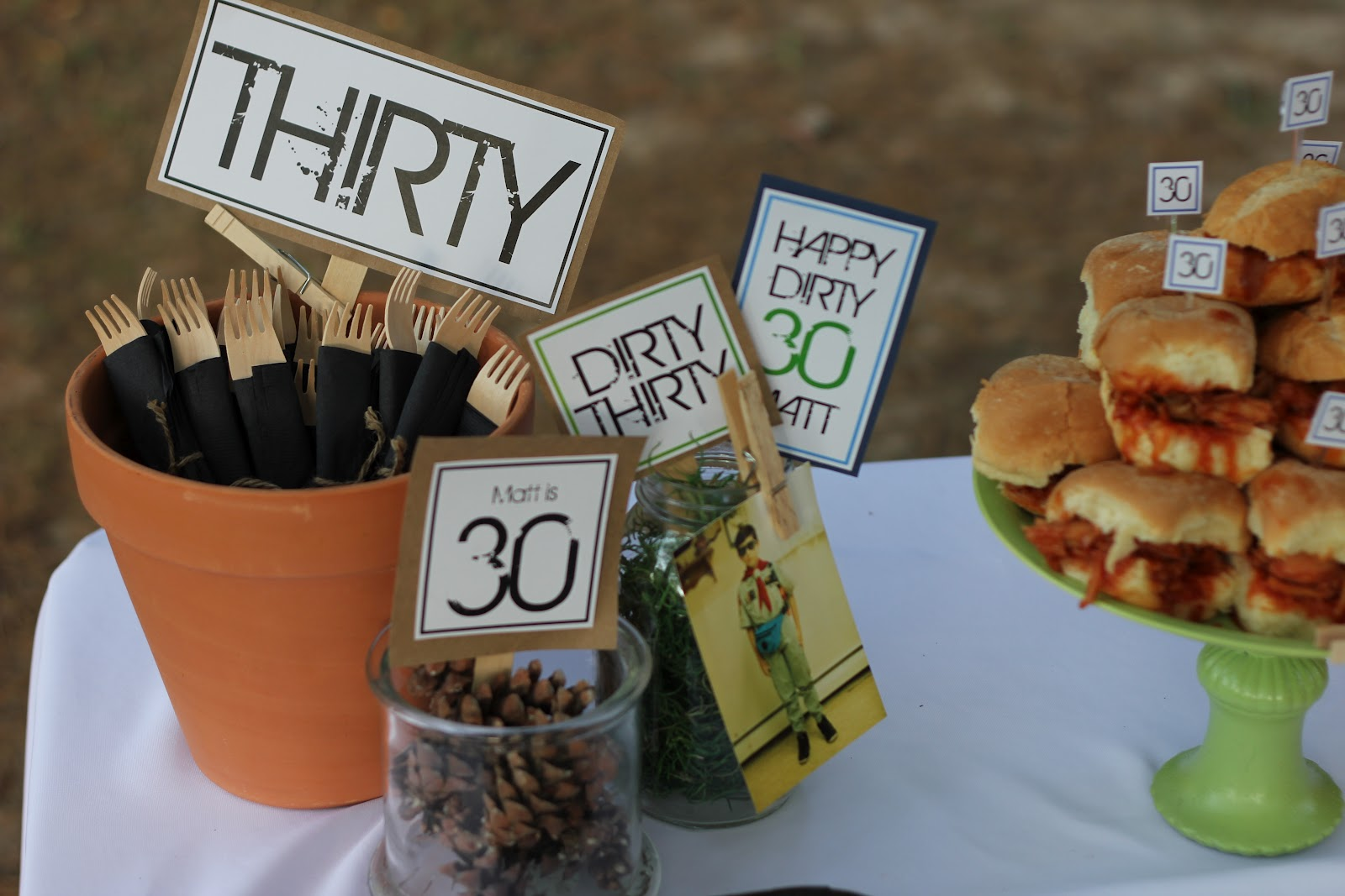 30th birthday party themes ; Dirty-Thirty