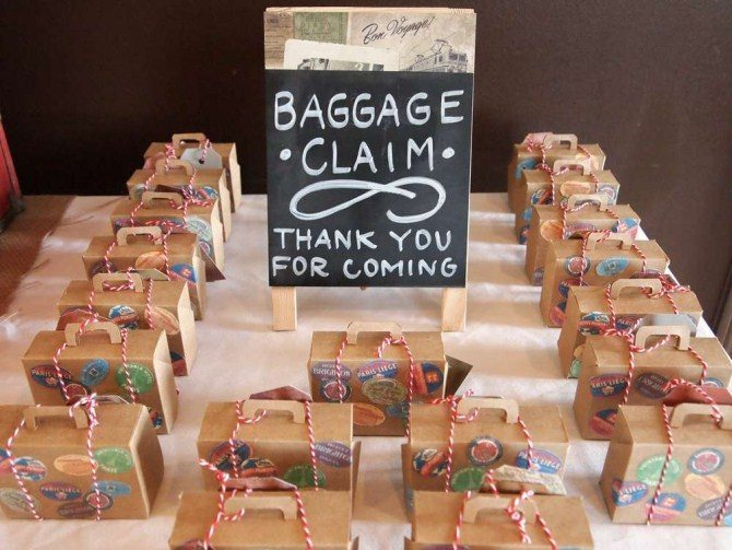 30th birthday party themes ; birthday-party-ideas-baggage-claim