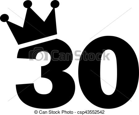 30th birthday pictures clip art ; 30th-birthday-number-crown-eps-vector_csp43552542