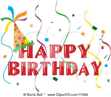 3rd birthday clipart ; 17086-Happy-Birthday-Banner-With-A-Party-Hat-And-Colorful-Confetti-And-Streamers-Clipart-Illustration
