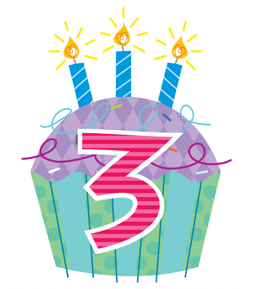 3rd birthday clipart ; file