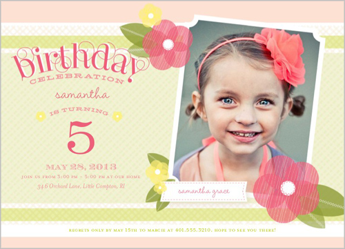 4 year old birthday invitation sayings ; five1