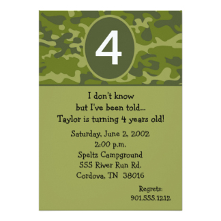 4 year old birthday invitation sayings ; four3