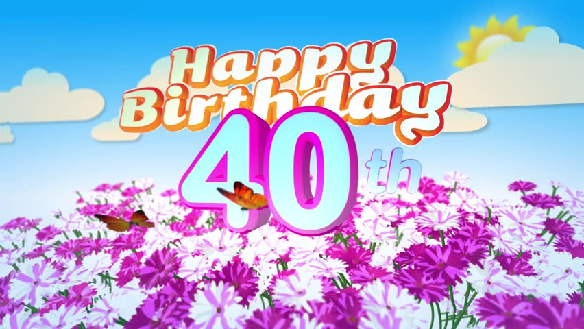 40th birthday background images ; 1