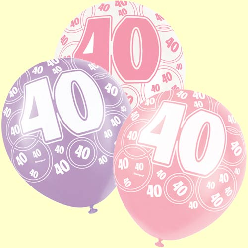 40th birthday background images ; 40th%2520birthday%2520balloons%2520pink%2520glitz