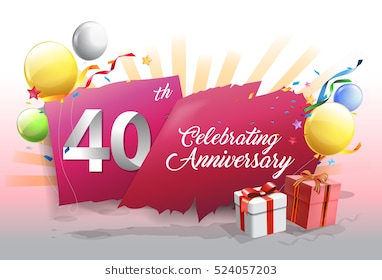 40th birthday background images ; 40th-anniversary-celebration-colorful-confetti-260nw-524057203