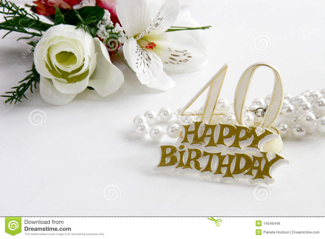 40th birthday background images ; 40th-birthday-sign-pearls-silk-rose-14546446