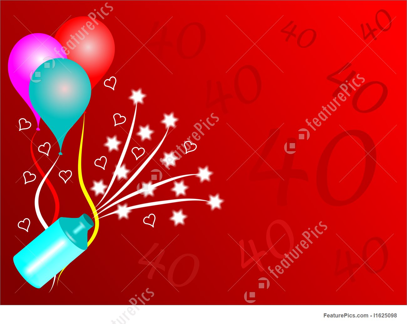 40th birthday background images ; fortieth-birthday-party-background-stock-illustration-625098