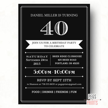 40th birthday invitation designs ; 40th-birthday-invitations-for-him-by-means-of-creating-outstanding-outlooks-around-your-Birthday-Invitation-Templates-10