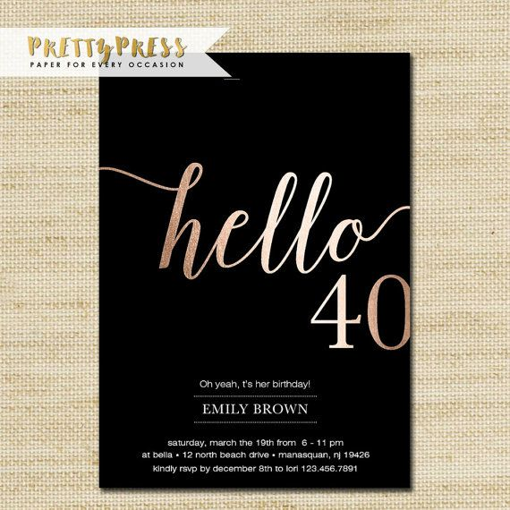 40th birthday party invitation designs ; best-25-40th-birthday-invitations-ideas-on-pinterest-40th-40-birthday-invitations