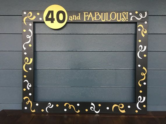 40th birthday picture frame ; 0000d78b16188142136f75269f8ac38a