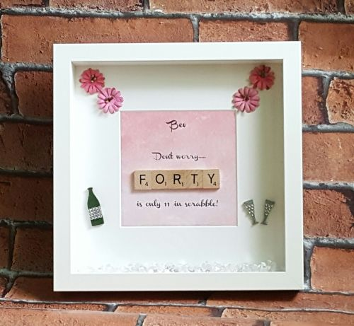 40th birthday picture frame ; 500x461