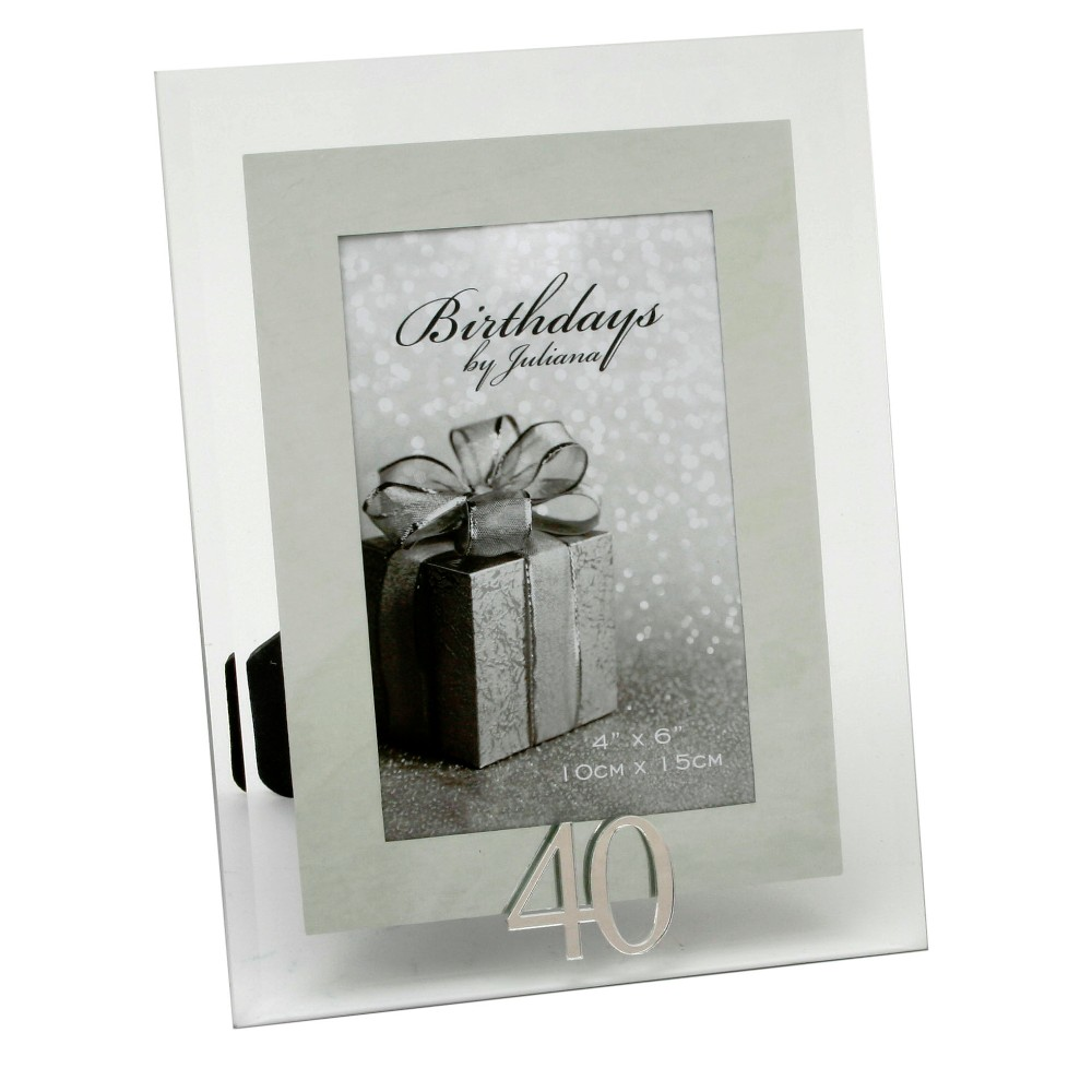 40th birthday picture frame ; FG49840