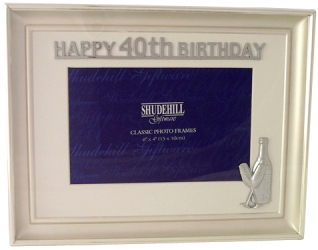 40th birthday picture frame ; Gifts-photo-frame-40th