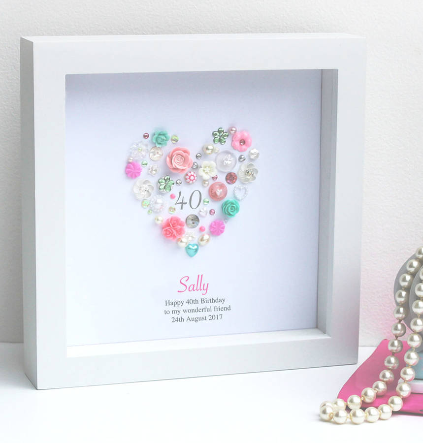 40th birthday picture frame ; original_personalised-40th-birthday-button-artwork