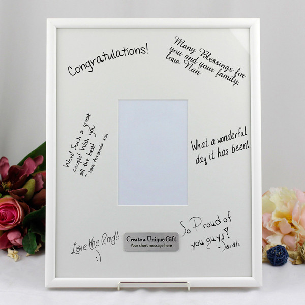 40th birthday picture frame ; personalised-plaque-mat-photo-frame-white-signature-portrait-message_-_copy