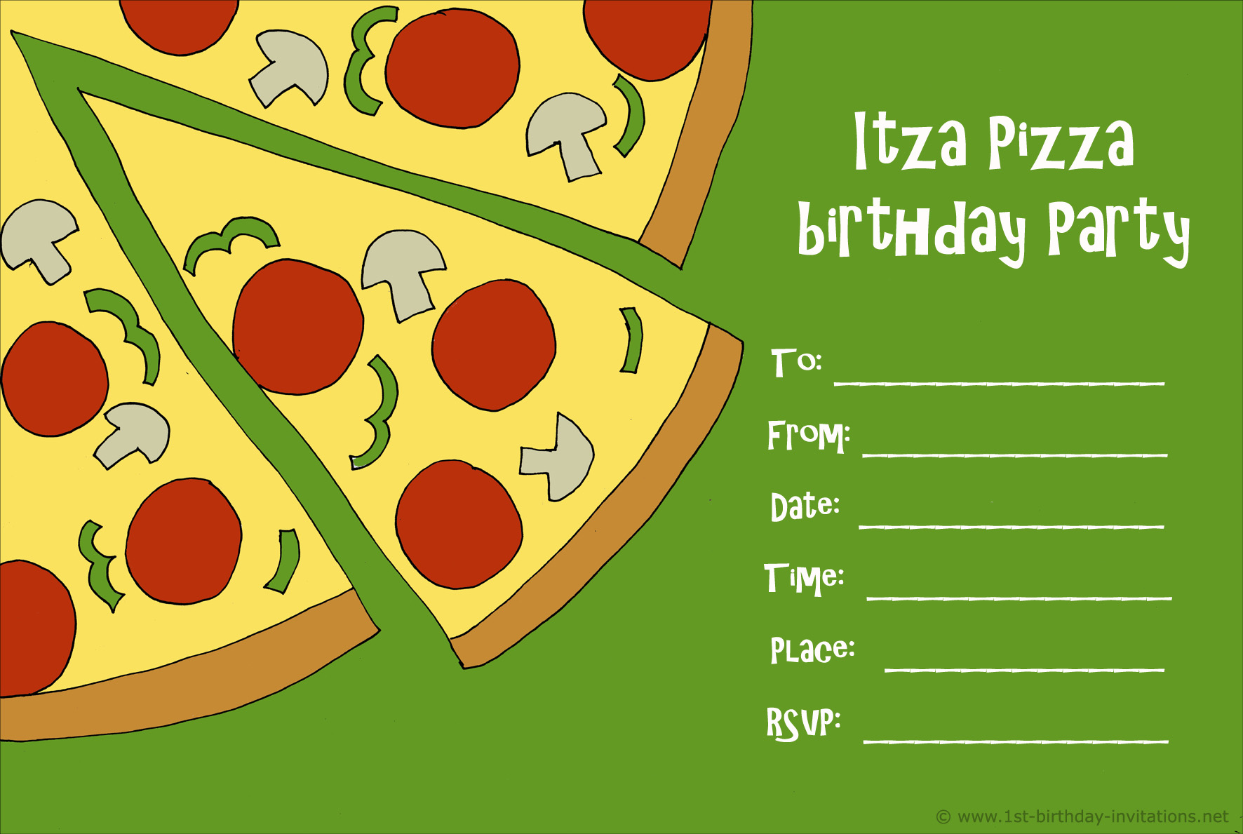 45th birthday invitation templates ; pizza-party-invitation-and-the-lovely-concept-of-the-Party-Invitation-Template-with-an-inspired-invitation-template-45