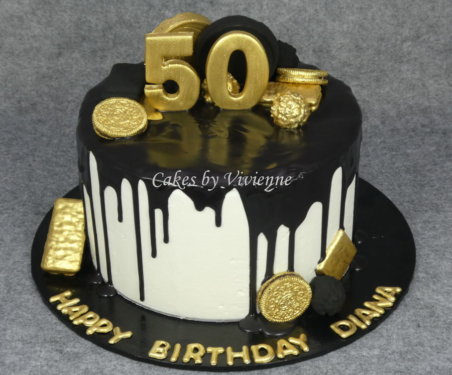 50th birthday cake with picture on it ; 900_black-and-gold-50th-birthday-cake-961880AeDWY