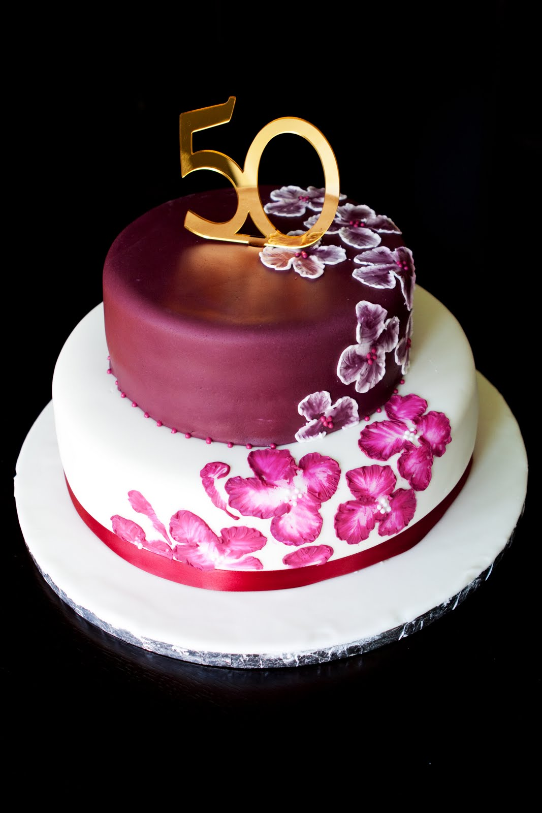 50th birthday cake with picture on it ; Elegant-50th-Birthday-Cake-Ideas