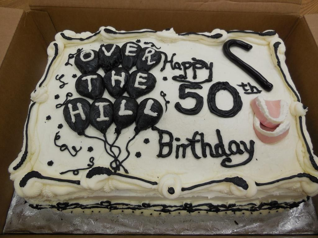 50th birthday cake with picture on it ; a525c163a3779d2cb42b364a1ce3cfdb