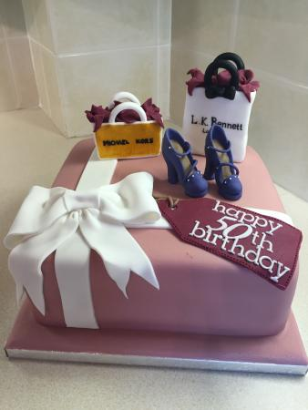 50th birthday cake with picture on it ; the-baking-bird