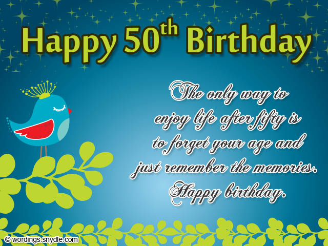 50th birthday card messages ; 50th-birthday-messages