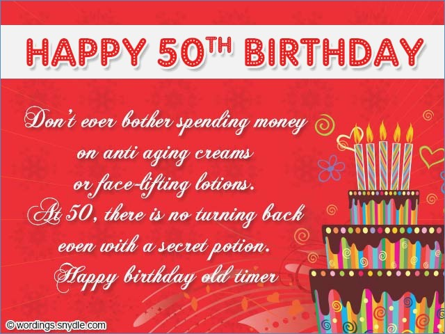 50th Birthday Card Messages Wishes And