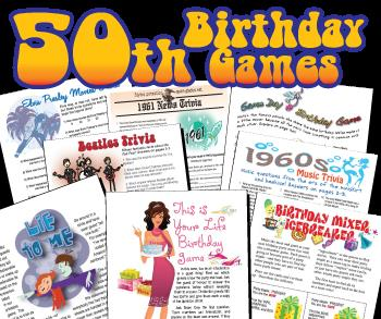 50th birthday party games and activities ; 50th-birthday-party-games-350x293