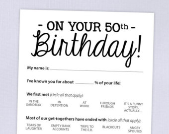 50th birthday party games and activities ; most-interesting-50th-birthday-party-game-ideas-90th-card-funny-milestone-printable-pdf