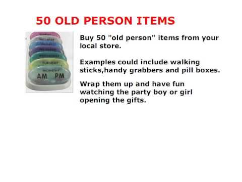 50th birthday party games and activities ; unthinkable-50th-birthday-party-game-ideas-50th-decoration