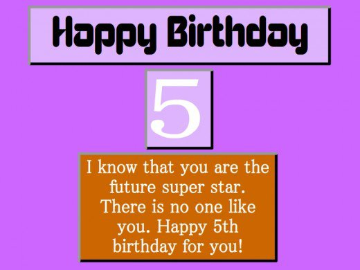 5th birthday card messages ; 5th-birthday-wishes
