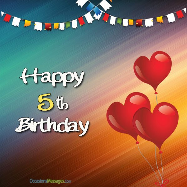 5th birthday card messages ; Happy-5th-birthday-cards