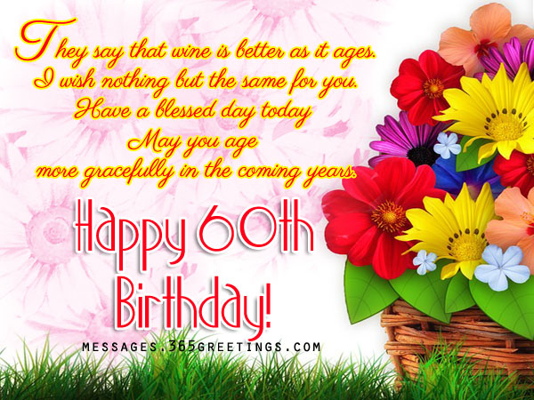 60th birthday card messages ; 60th-birthday-greetings