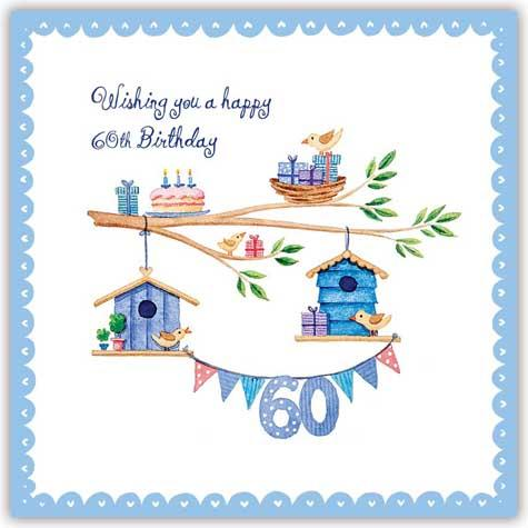 60th birthday greeting cards ; happy-60th-birthday-greetings-card-sandie-blue-dorset-the-new-happy-60th-birthday-cards