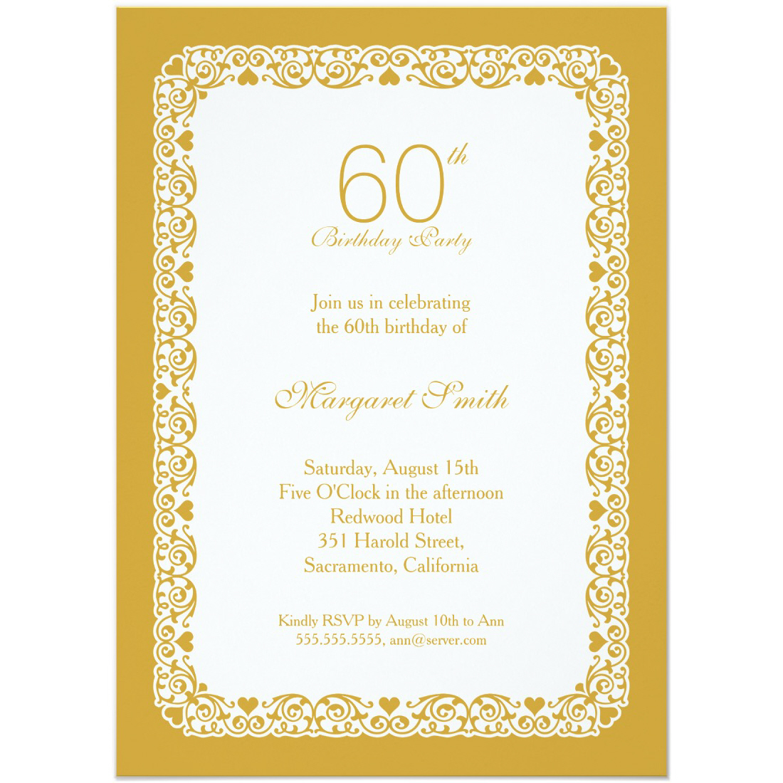 60th birthday party photo invitations ; Elegant-personalized-60th-birthday-party-invitations-Choose-your-own-colors