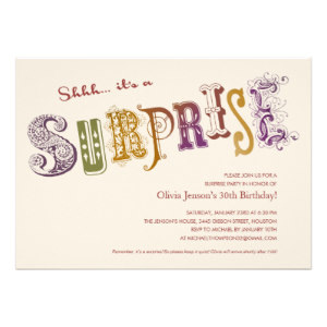 65th Birthday Invitations Templates Surprise Party Personalized Announcements