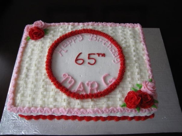 65th birthday sheet cake ; 7035831_orig