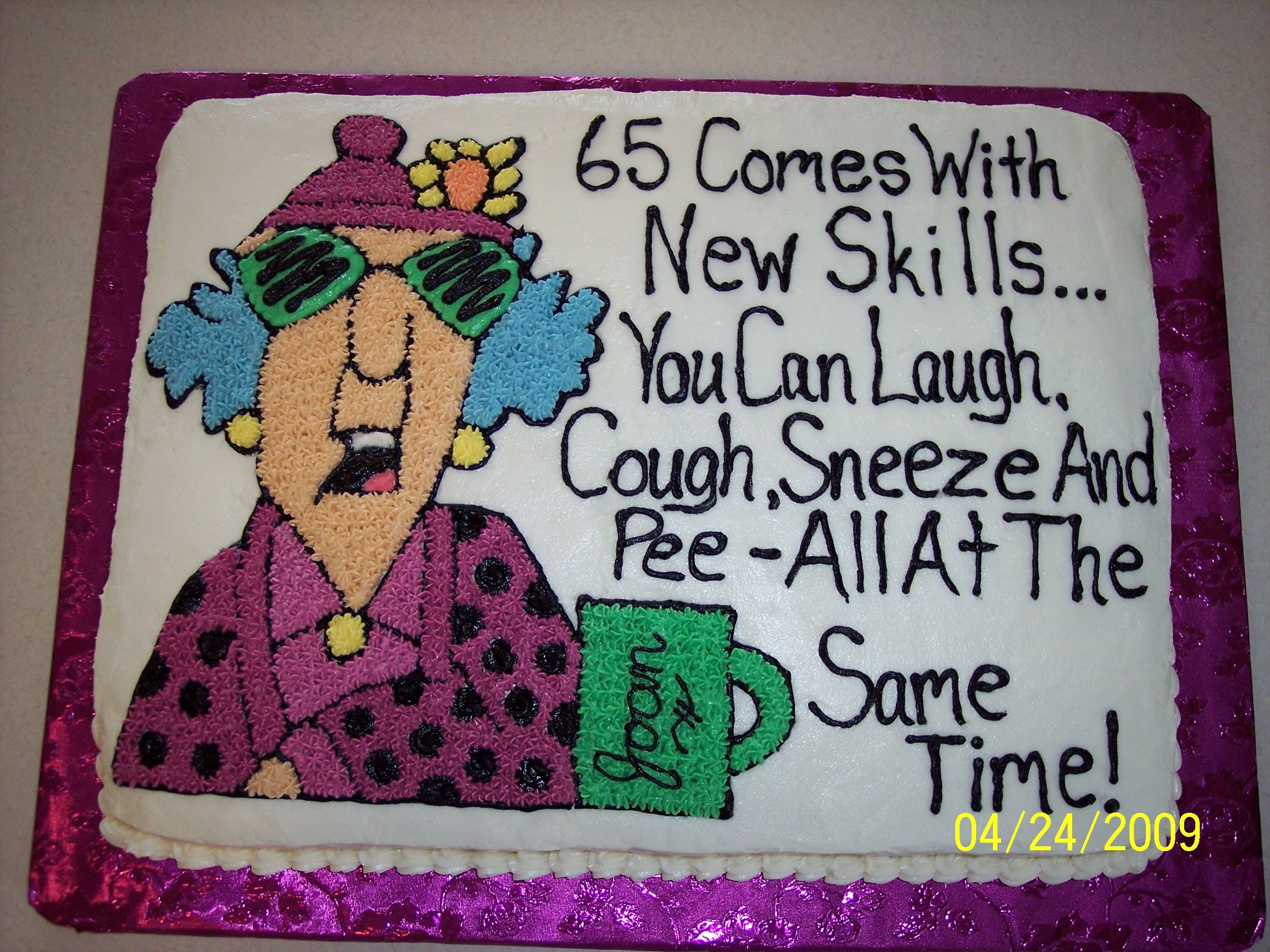 65th birthday sheet cake ; fd6a1ef44ade4bb4ad45002667a0fff6