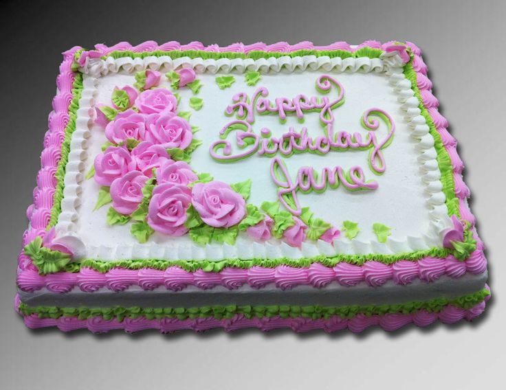 65th birthday sheet cake ; pink-rose-birthday-sheet-cake_476565