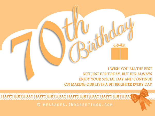 70th Birthday Card Messages Dad Wishes